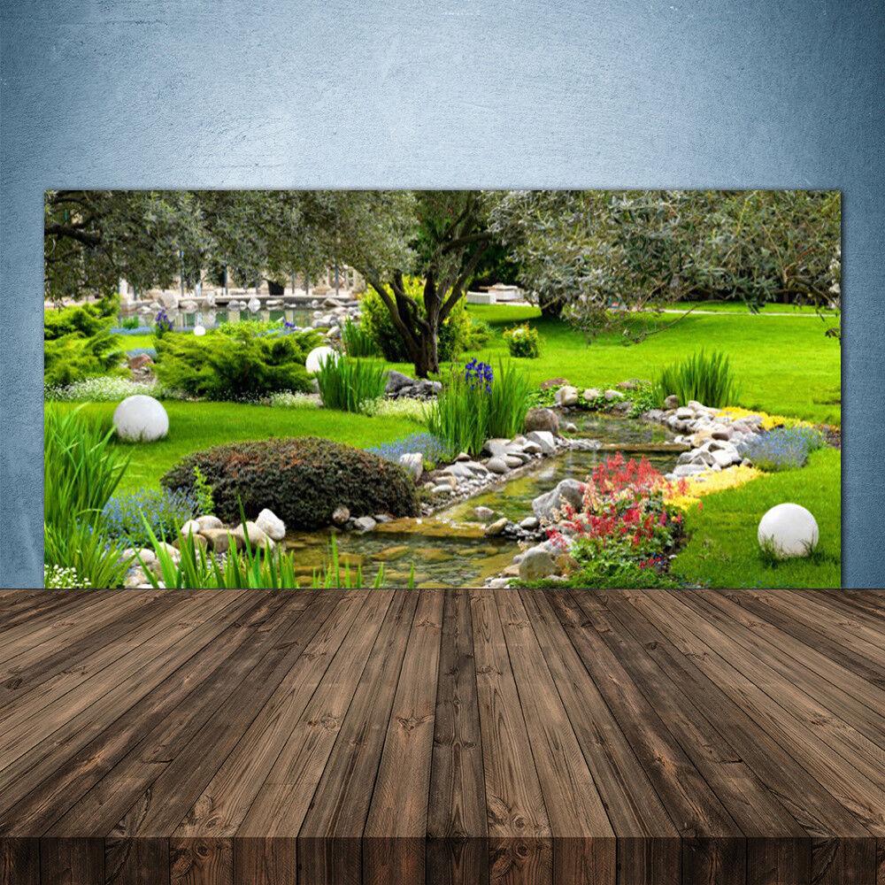 Crédence de cuisine en verre Panneau 140x70 Nature Jardin