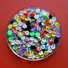 200 Wholesale Mini Doll Micro Dolly Clothes Tiny Assorted Color Buttons 6mm 10L