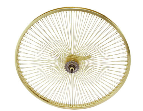 "26/"" Lowrider Gold 144 Spoke Bicycle Wheel Lowrider bike."