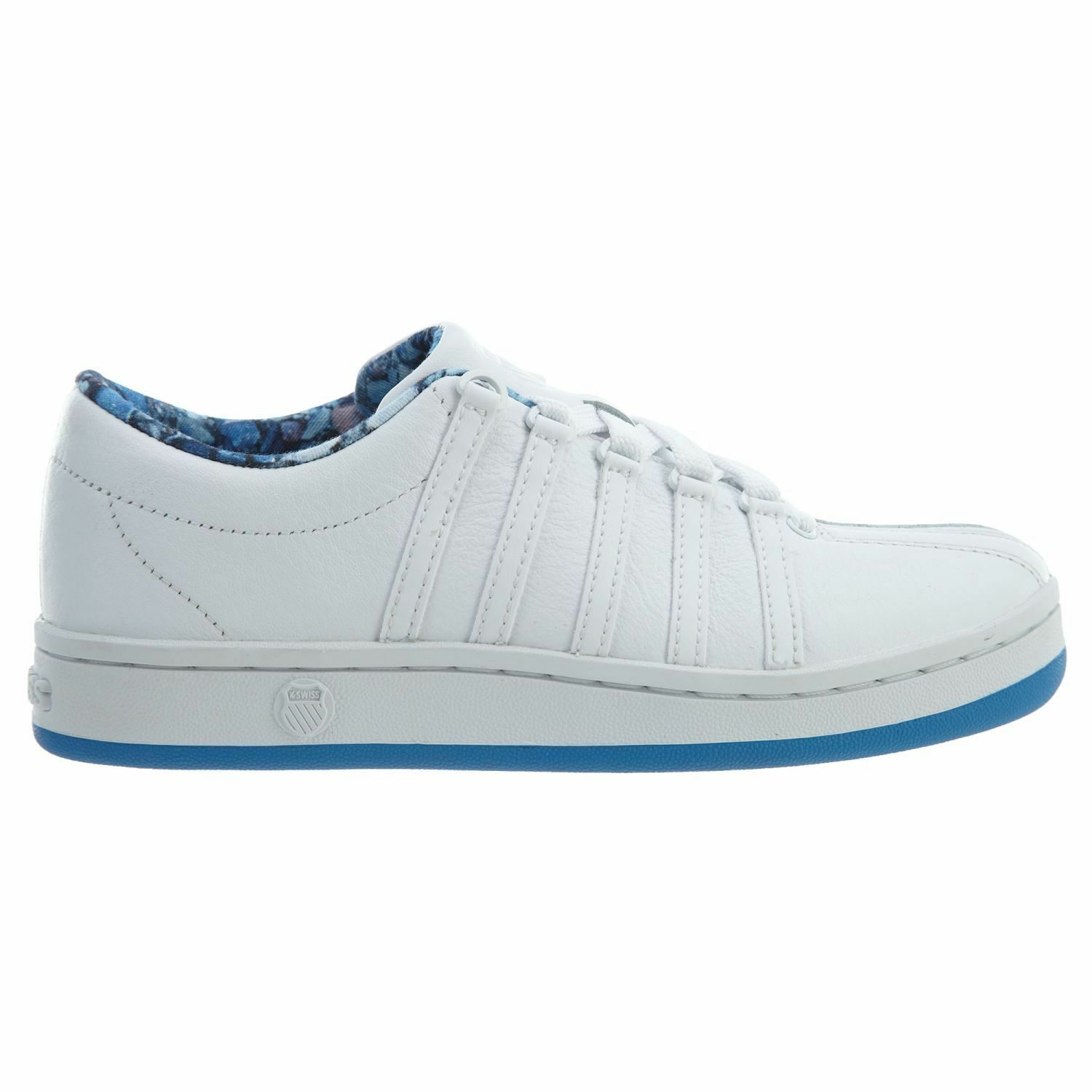 K-Swiss Classic 88 Femme 92248-142 Blanc French Bleu Leather Chaussures