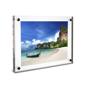 Details About Deluxe Clear Acrylic Wall Mounted Photo Frame A4 Flush Uk
