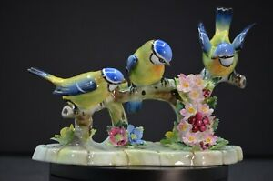 Royal Adderley Porcelain Treble Blue Tit Bird Figurine