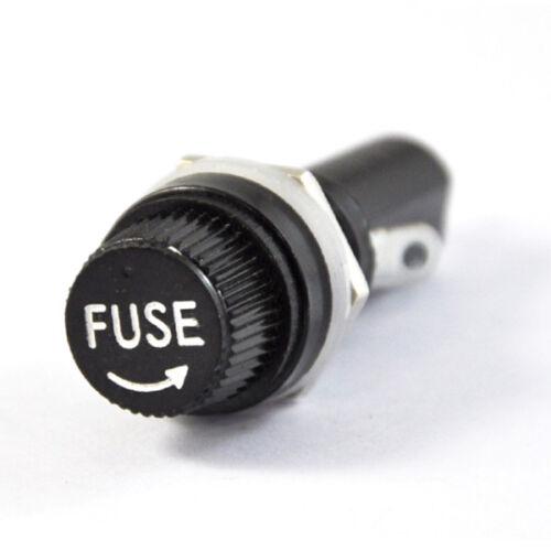 10 × panneau de montage bouchon à vis porte-fusible Prise pour tube en verre fusibles 5*20mm