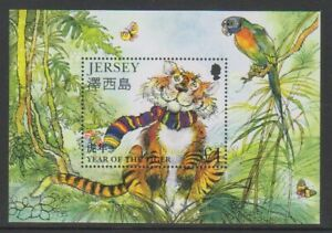 Jersey-1998-Annee-Du-Tigre-Feuille-MNH-Sg-MS843