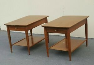 Details About Mid Century Modern End Tables