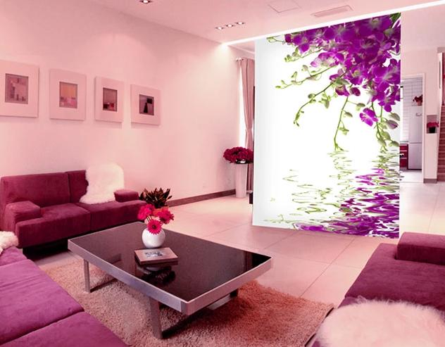 3D lila Flowers 758 Wall Paper Murals Wall Print Wall Wallpaper Mural AU Kyra