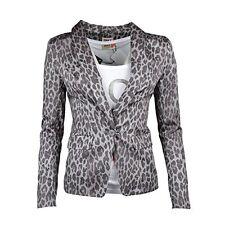 manteaU VESTE blazer ONLY MOTIF ANIMALIER LEOPARD STRETCH GRIS TAILLE 36