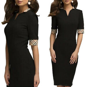 Ladies-Womens-Elegant-Wear-To-Work-Office-Cocktail-Party-Evening-Pencil-Dress