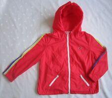HOLLISTER Women Hooded Rain Windbreaker Coat Jacket ~ Bright Pink ~ Size M
