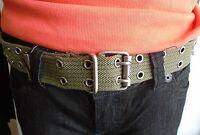 Harley Davidson Women's Military-Style Fabric Belt