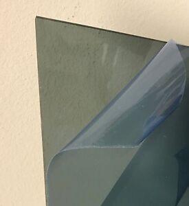 """Dark Gray Smoke Transparent Acrylic Plexiglass #2074-1//4/"""" x 8/"""" x 12/"""""""