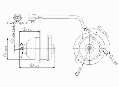 Engine Cooling Fan Motor Left,Right TYC 631210