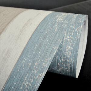 Vinyl-Contact-Paper-Blue-Wood-Grain-Wallpaper-Self-Adhesive-Stickers-Retro-Decor