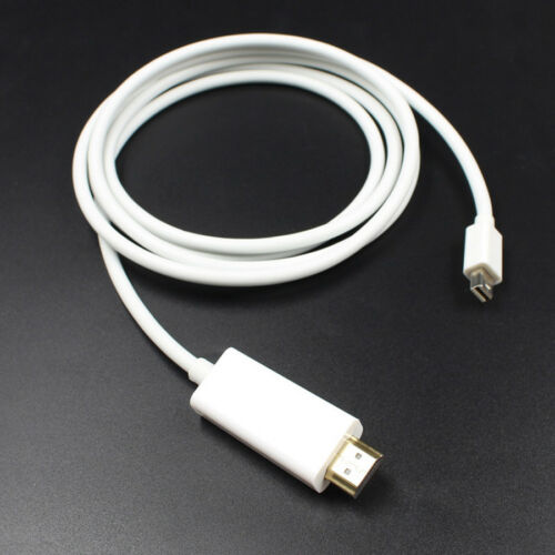 NEW Mini DisplayPort DP to HDMI PC Laptop HDTV Audio Video Cable 1080p 6 Feet