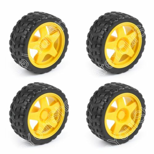 Smart Car Robot Plastic Tire Tyre Wheel Mit DC 3-6V Gear Motor Für  DE