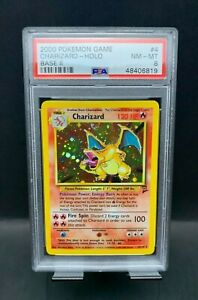 2000 Pokemon Base Set II 4/130 Charizard Holo PSA 8 NM+