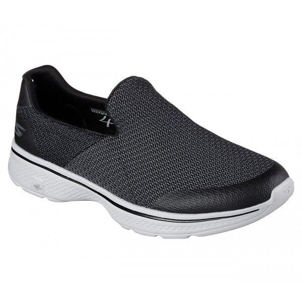 Skechers WALK 4 EXPERT para Hombre Cómodo GO deportivo Slip On Tenis Negro gris