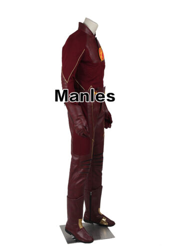 Barry Allen Cosplay Costume Superhero Halloween Outfits Comic Con Suits Props