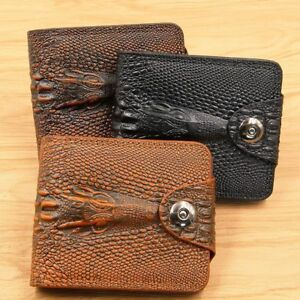 Men-039-s-Wallets-Leather-Crocodile-Pattern-Coin-Purse-Money-Bag-Credit-Card-Holders