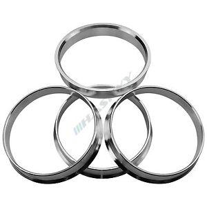 4x Aluminium Bagues de centrage en aluminium //// taille 70,1-57,1