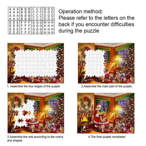 1000 Piece Puzzle Merry Christmas Santa Claus Jigsaw  Educational Kids Adults G