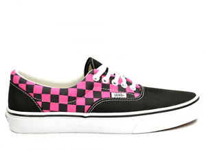 f589c424f1c14a VANS AUTHENTIC BLACK PINK CHECK SIZE 8 SNEAKERS TRAINERS SHOES LOW ...