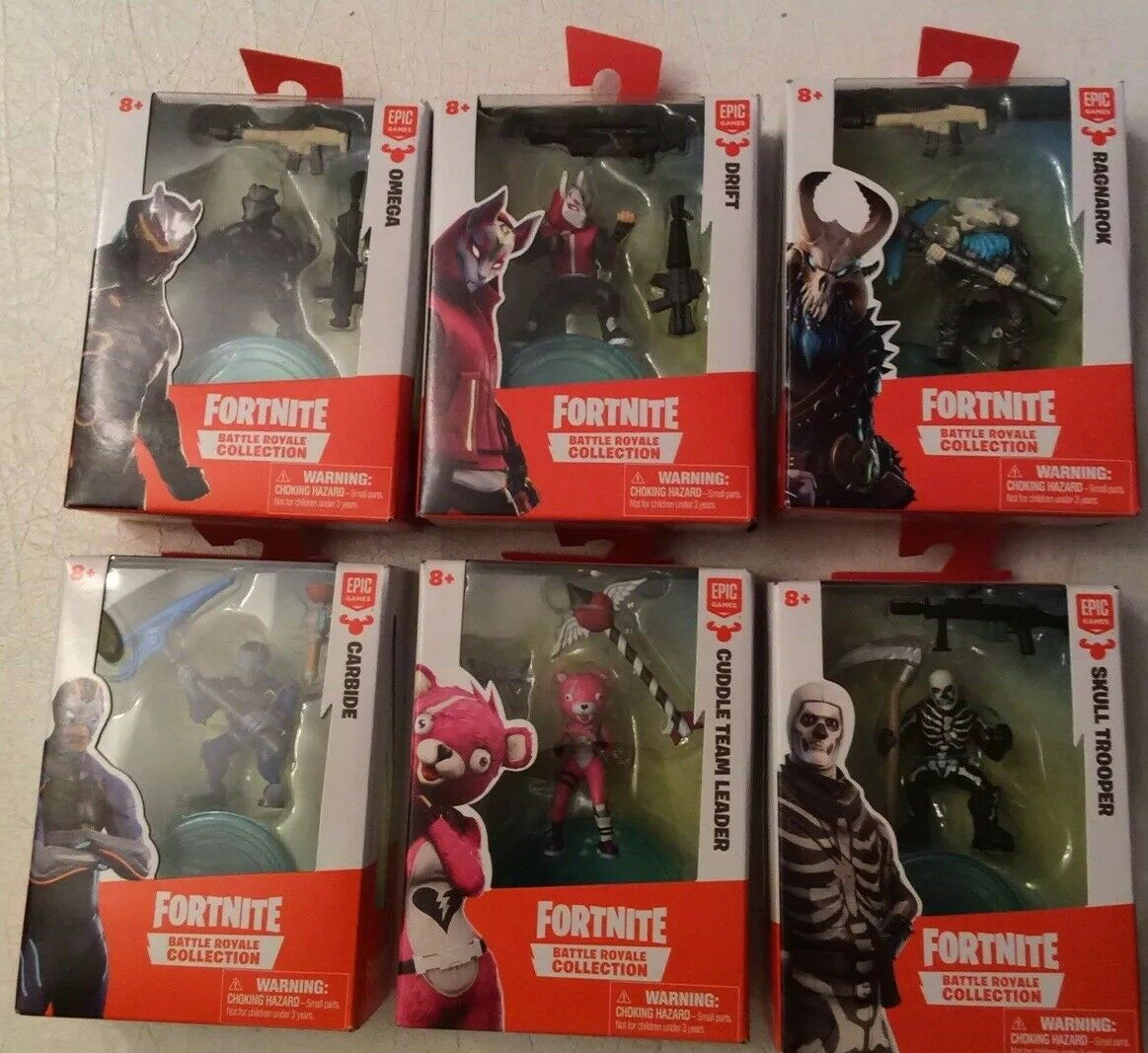 FORTNITE BATTLE ROYALE COLLECTION SET OF (6) DIFFERENT ALL MIB SHIPS FAST