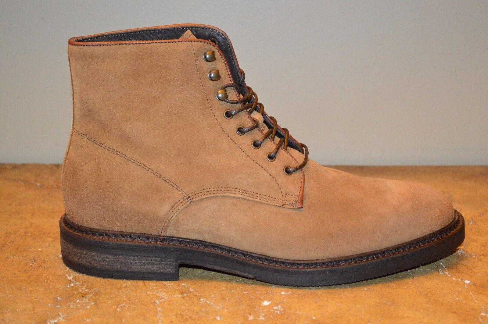 A.Testoni Tan Pelle Uomo Ankle Stivali Size 9 MSRP  600