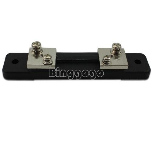 DC Strom Amp Analog Panel Meter Shunt-Widerstand 30A 75mV New