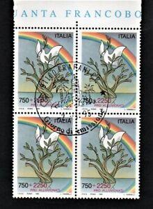 francobollo-repubblica-italiana-1995-Pro-alluvionati-quartina-nuova-primo-giorno