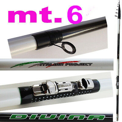 Honesty Canna Teleregolabile 6 M Metri Carbonio Trota Torrente Pesca Corona Piombi Fiume Can Be Repeatedly Remolded. Other Fishing Rods Sporting Goods