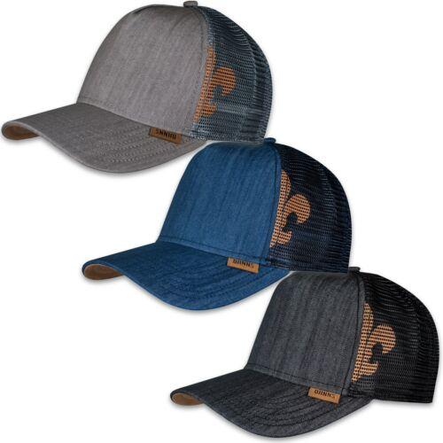 DJINNS ® HFT TRUCKER MESH CAP Linen Holo Stripes Camou Mix Canvas Kappe Capy Hat