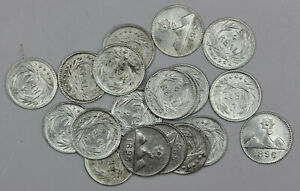 1896-1-4-REAL-GUATEMALA-SILVER-COIN-XF-AU-FREE-SHIPPING-1Pc-From-Lot-Shown