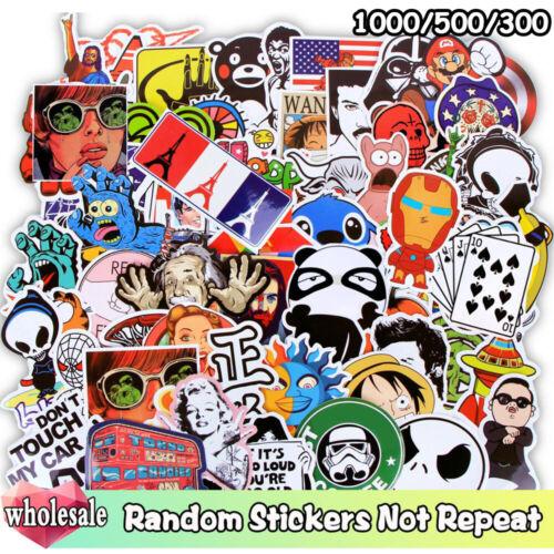 1000//500//300 Pcs//Lot Stickers JDM Cartoon Graffiti Mixed Sticker Not Repeat