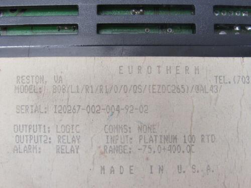 EUROTHERM 808-L1-R1-R1-0-0-QS-EZDC265-@AL43 TEMPERATURE CONTROL ***XLNT***