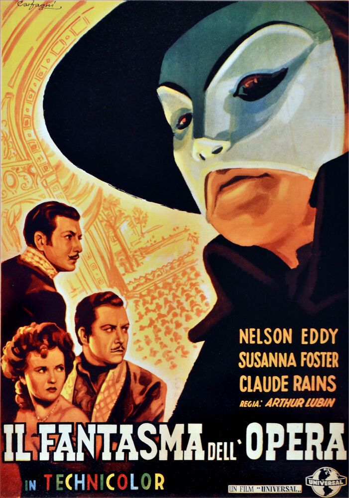 2651. Il Fantasma dell Opera Movie Art Decoration POSTER. Graphic Design.