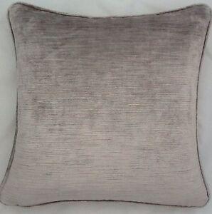 2-X-16-Inch-Cushions-And-Inners-Laura-Ashley-Villandry-French-Grey-Velvet-Fabric