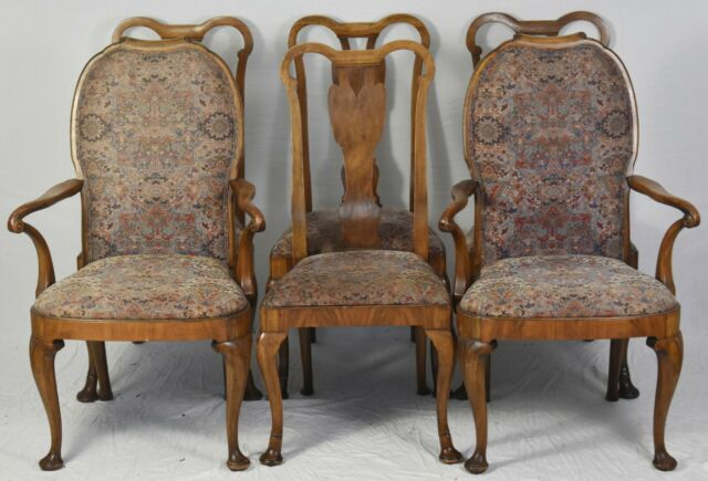 Set Of 6 Robert W Irwin CoQueen Anne Walnut Dining Chairs Royal Furniture