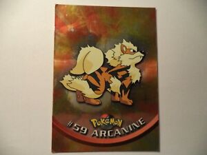 (ASK) TOPPS TV ANIMATION POKEMON SHINY #59 ARCANINE PLAYED IN FAIR CONDITION