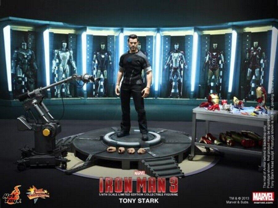 Hot Toys MMS191 Tony Stark Iron Man Armor Testing Workshop 1 6 Scale Sealed Ship