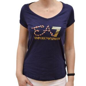 T-shirt-manica-corta-ARMANI-JEANS-maglia-maglietta-polo-DONNA-ORIGINALE-new-polo