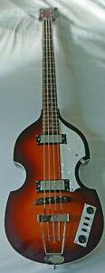 Hofner B-bass Hi-series eléctrico violín bajo con un caso duro en excelente