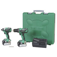 Hitachi 18V Lithium-Ion Brushless 2- Piece Hammer & Impact Combo KC18DBFL NEW Tools and Accessories