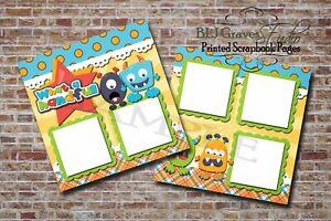 Monsters-Toddler-Boy-Girl-2-PRINTED-Premade-Scrapbook-Pages-BLJgraves-29