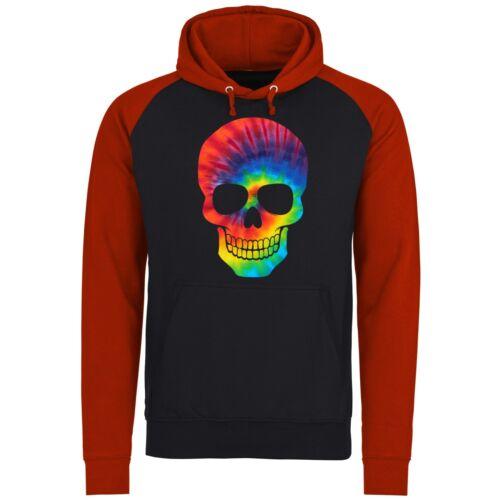 Tie Dye Patterned Skull Unisex Pullover Hoodie
