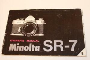 Camera-Manual-Minolta-SR-7-Owner-039-s-Guide-Instructions-English-And