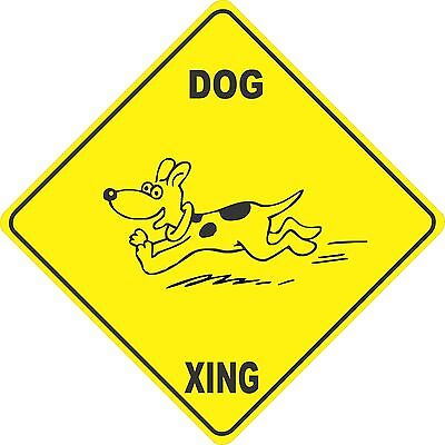 "15.5/"" x 15.5/"" plastic funny dog sign xing Crossings #2 animal"