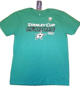 Nwt Fanatics Men S Size L Dallas Stars Stanley Cup Playoffs 2019 Green T Shirt Ebay