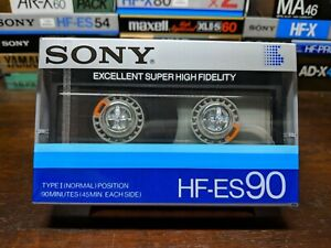 Sony-HF-ES-90-Blank-compact-audio-cassette-tape-Type-I