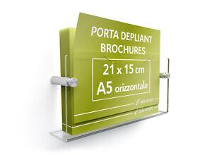 6e50898620 Caricamento dell'immagine in corso Porta-Depliant -Brochure-Pieghevoli-a-parete-A5-Verticale-